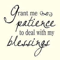 grant me patience